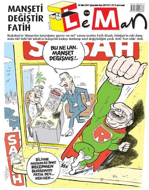 'MANŞETİ DEĞİŞTİR FATİH' LEMAN'A KAPAK OLDU