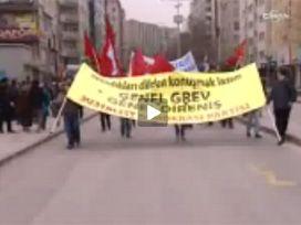 BAŞKENT'TE TEKEL İŞÇİLERİNE DESTEK MİTİNGİ