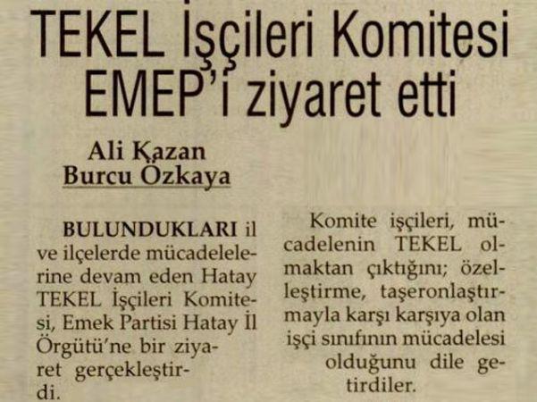 TEKEL İŞÇİLERİ KOMİTESİ EMEP'I ZİYARET ETTİ