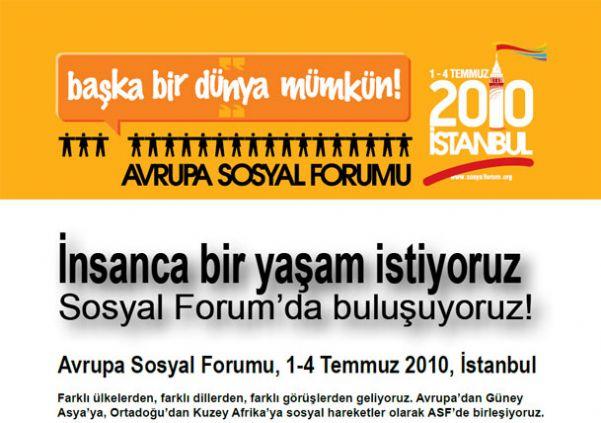 BAŞKA BİR DÜNYA MÜMKÜN AVRUPA SOSYAL FORUMU İSTANBUL-2010
