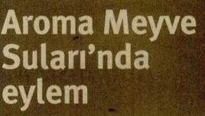 AROMA MEYVE SULARI'NDA EYLEM