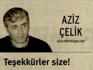 TEŞEKKÜRLER SİZE!