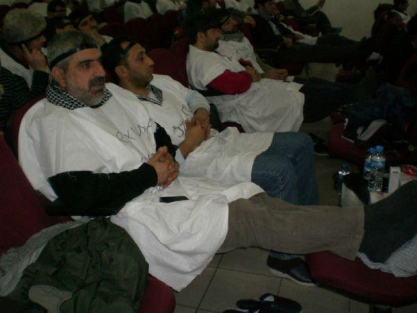 TEKEL İŞÇİLERİNİN AÇLIK GREVİNDEN GÖRÜNTÜLER 20-21/01/2010