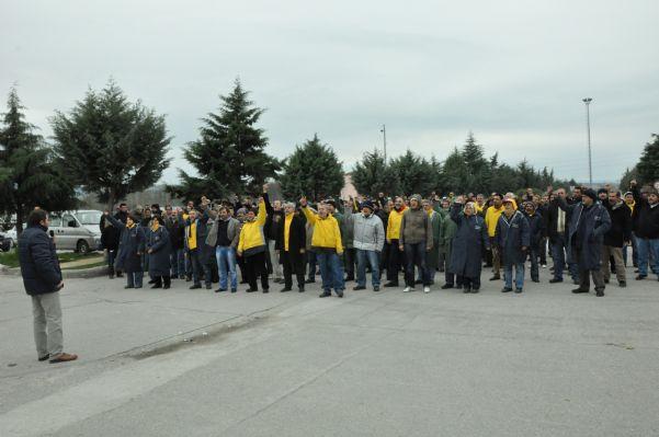 Bat işyerinden atılan 120 arkadaşın eylem görüntüleri. 13.04.2011