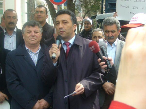 BAT GENEL MÜDÜRLÜĞÜ ÖNÜNDE PROTESTO EYLEMİ