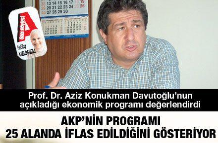 AKP'NİN PROGRAMI 25 ALANDA İFLAS EDİLDİĞİNİ GÖSTERİYOR