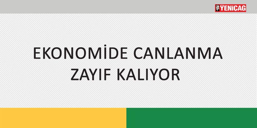 EKONOMİDE CANLANMA ZAYIF KALIYOR