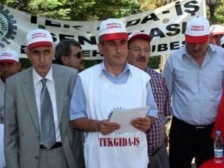 TEKGIDA-İŞ SENDİKASI'NDAN İMZA KAMPANYASI-ESKİŞEHİR.
