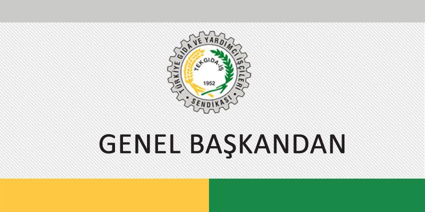 GENEL BAŞKANDAN