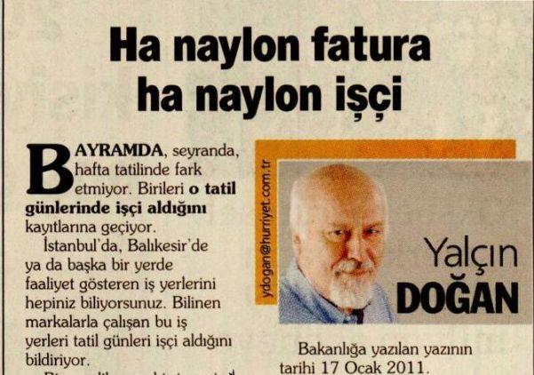 HA NAYLON FATURA HA NAYLON İŞÇİ