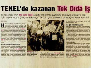 TEKEL'DE KAZANAN TEKGIDA-İŞ
