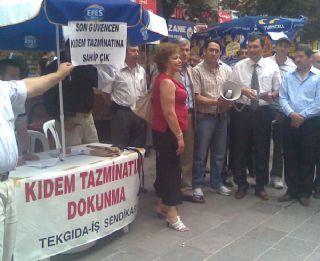 TEKGIDA-İŞ SENDİKASI'NDAN İMZA KAMPANYASI-ANKARA