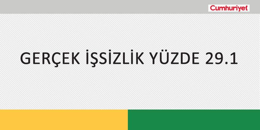 GERÇEK İŞSİZLİK YÜZDE 29.1