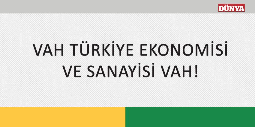 VAH TÜRKİYE EKONOMİSİ VE SANAYİSİ VAH!